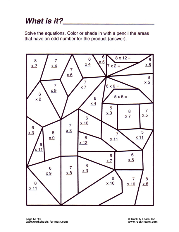 Free Printable Coloring Math Worksheets For 3rd Grade Worksheets – Christmas Multiplication Worksheets