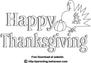 4 Images of Happy Thanksgiving Printable Letters