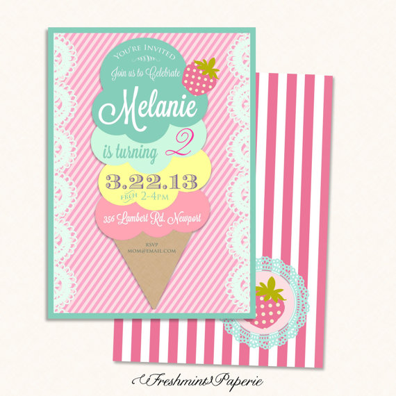 6 Images of Printable Invitations Ice Cream Cone