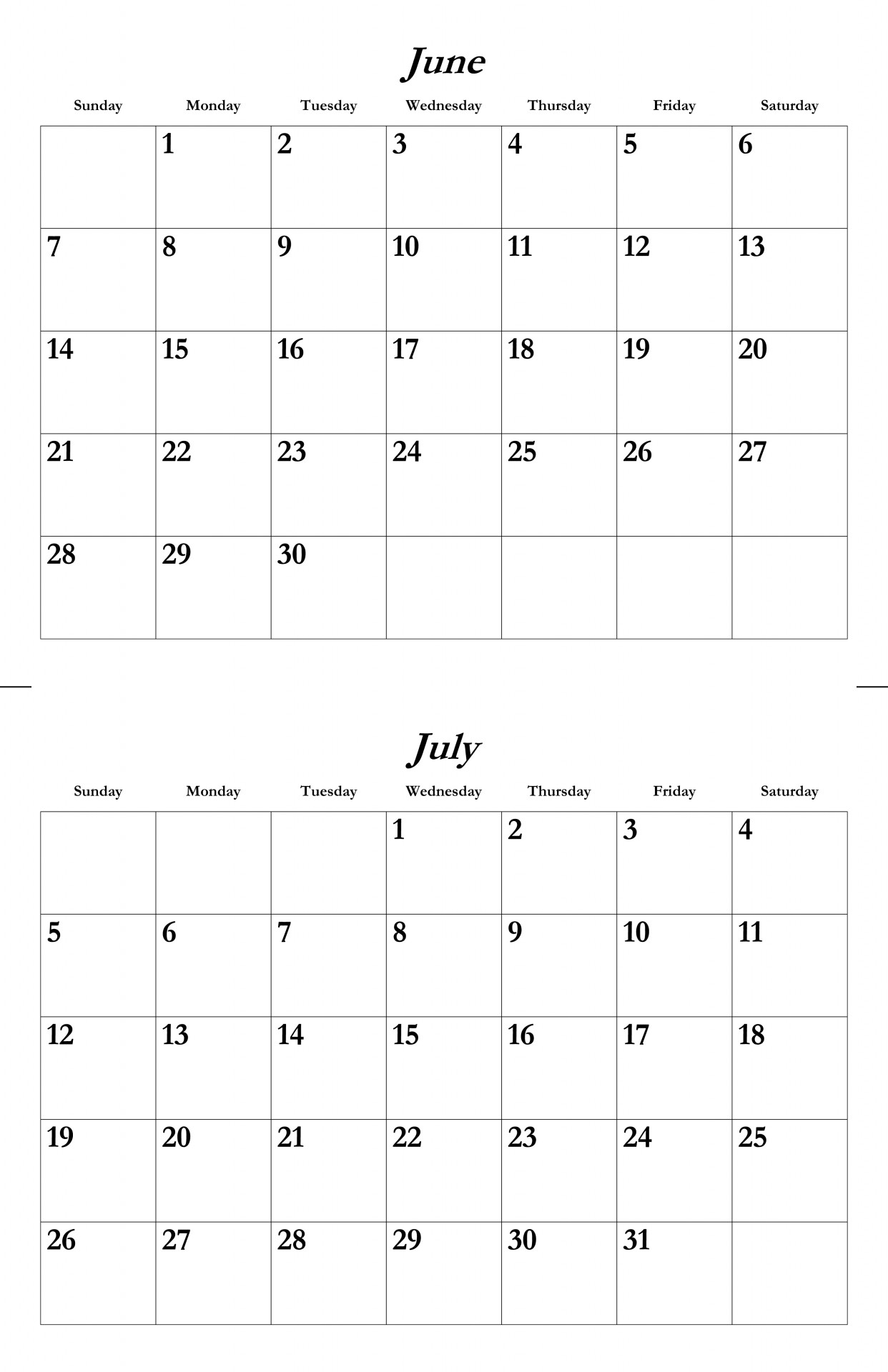 Calendar June July August Printable : Best images of may printable calendar july june