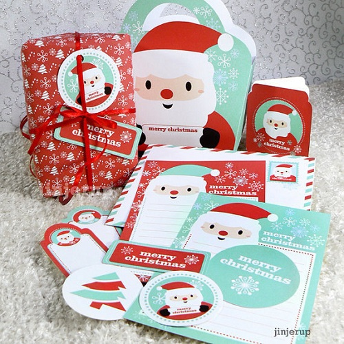 6 Images of Cute Kawaii Christmas Printables