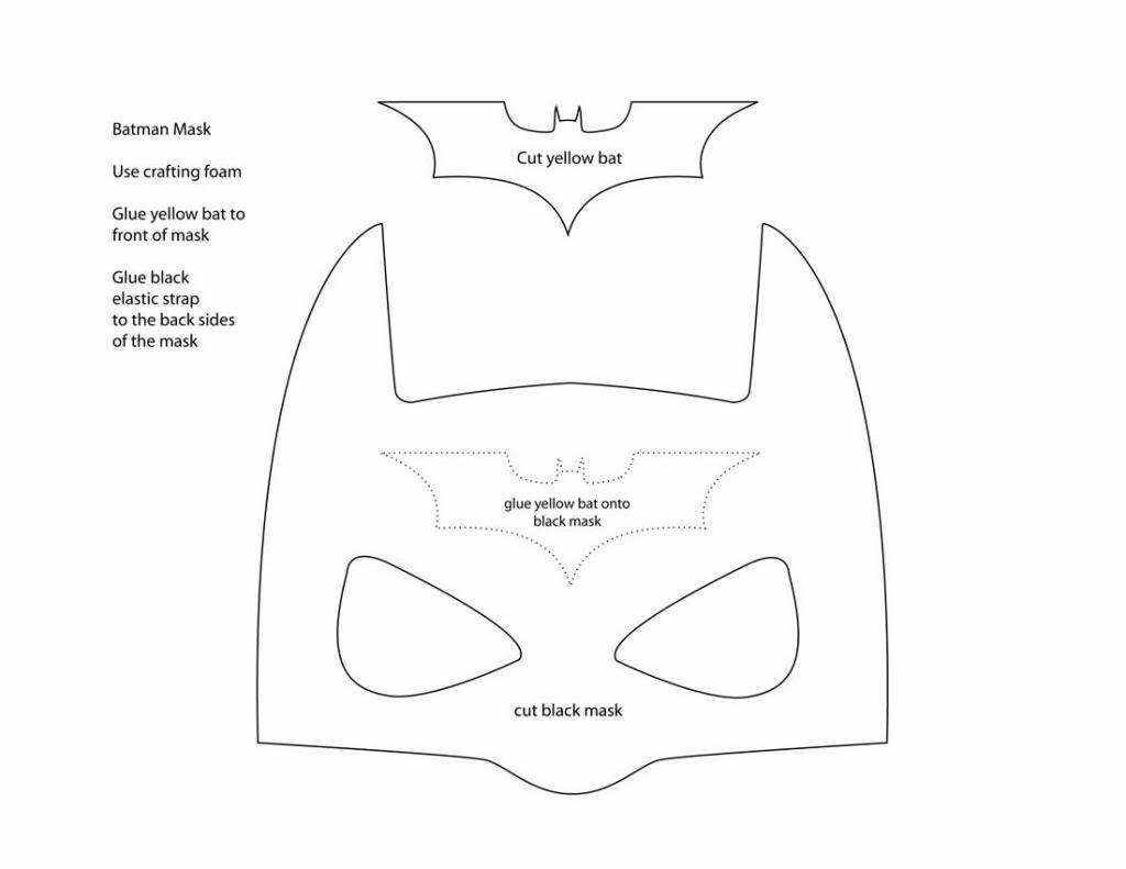 5 Images of Printable Batman Mask Pattern