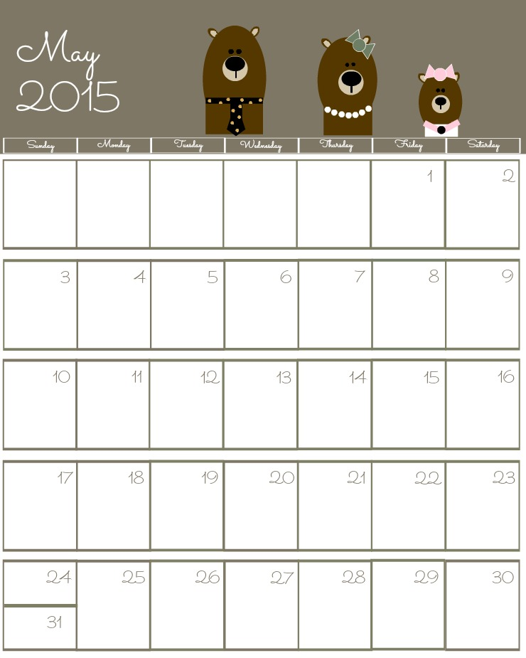 7 Images of Free Printable May 2015 Calendars For Teachers