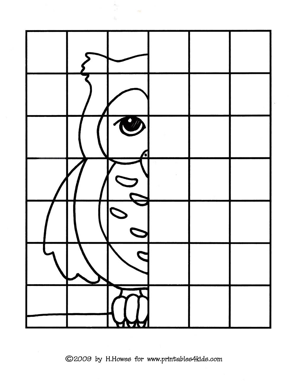 worksheet Grid Art Worksheets Fiercebad Worksheet And Essay Site – Grid Drawing Worksheet