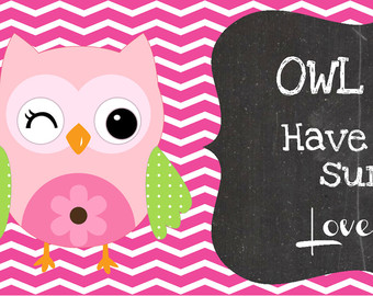 6 Images of Printable Owl Miss You Have A Great Summer Card