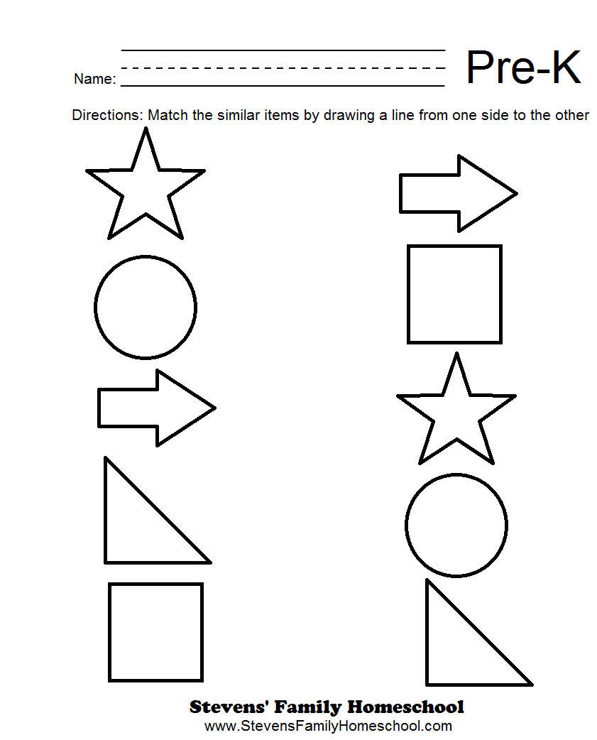 6 Best Images of Pre-K Worksheets Printables - Pre-K Matching ...