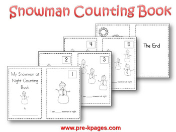 5 Images of Number Printable Snowman Book