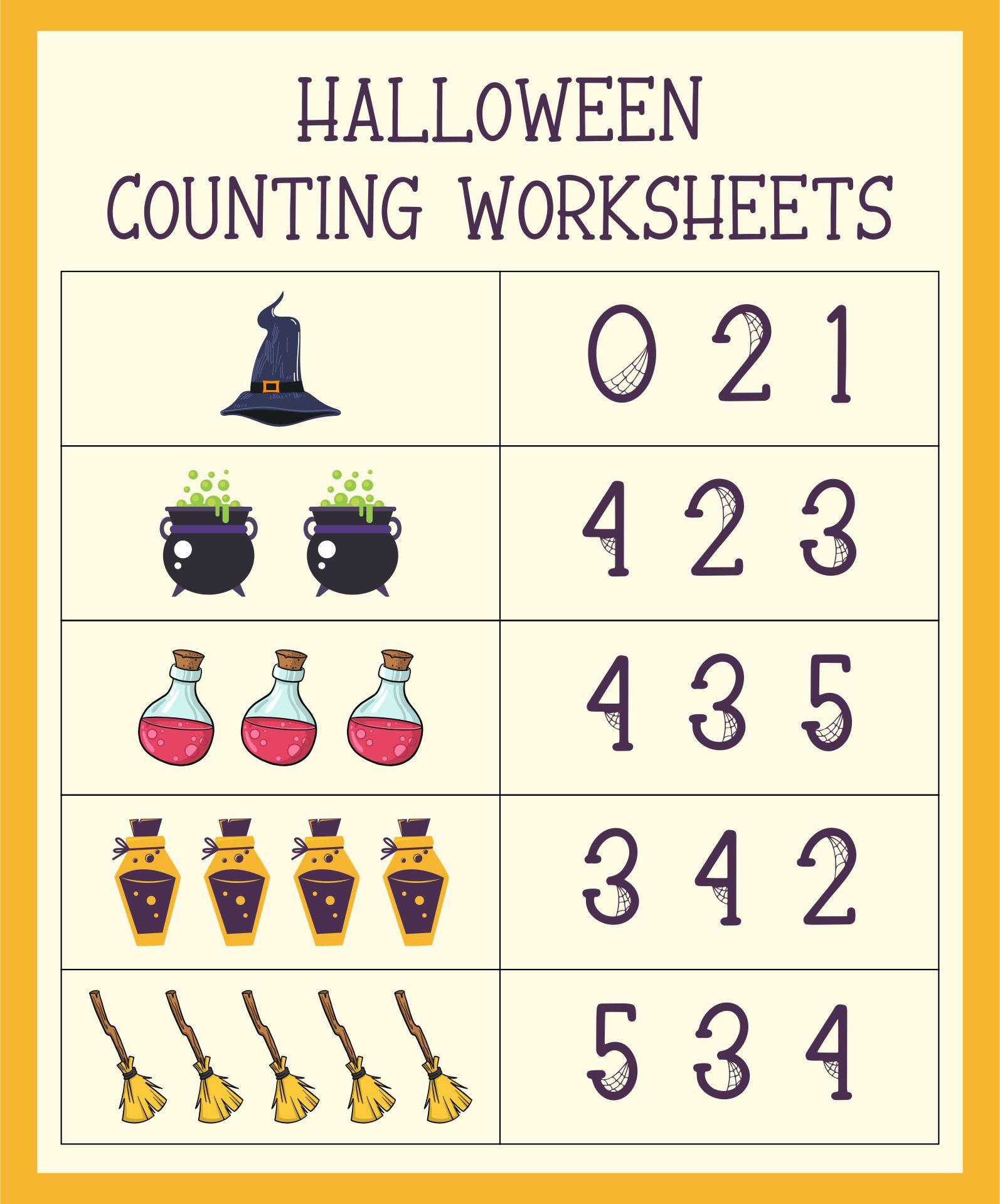 math worksheet : 5 best images of halloween preschool math printables  halloween  : Free Halloween Worksheets For Kindergarten