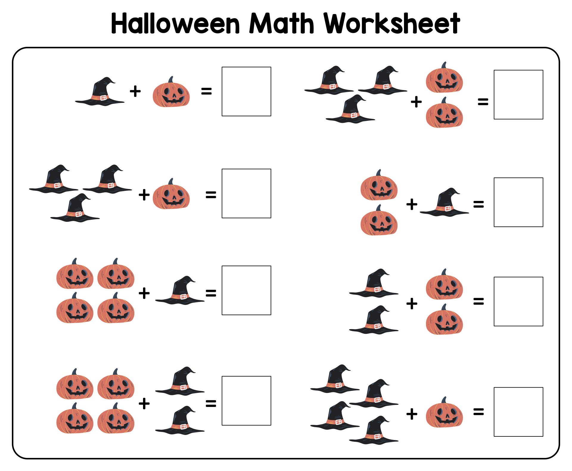 math worksheet : 5 best images of halloween preschool math printables  halloween  : Pre School Math Worksheets