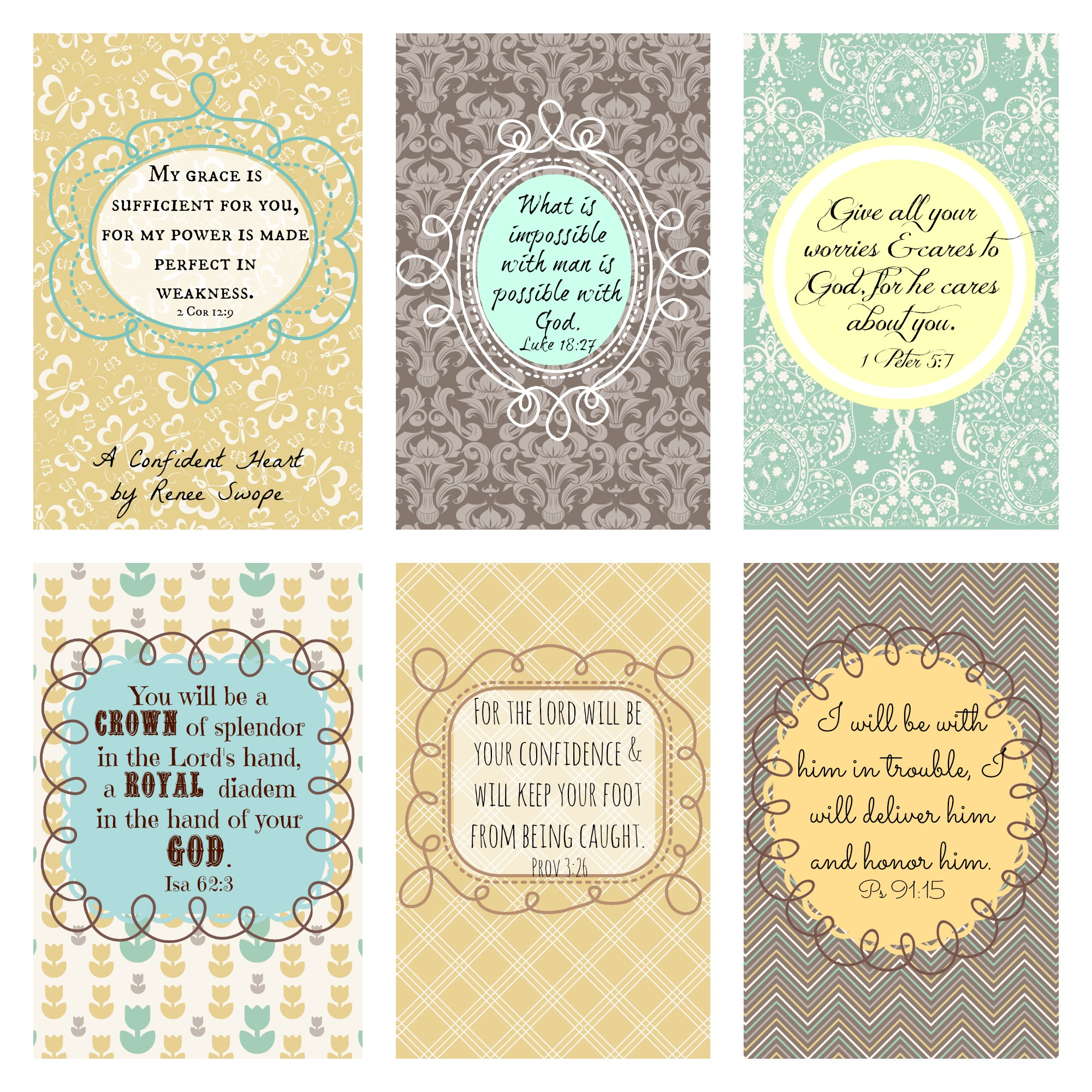 6 Images of Encouraging Bible Verse Cards Printable Free
