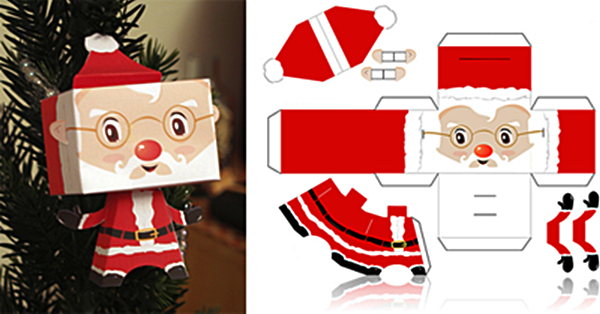 9 best images of printable paper crafts free printable for Free printable christmas craft templates