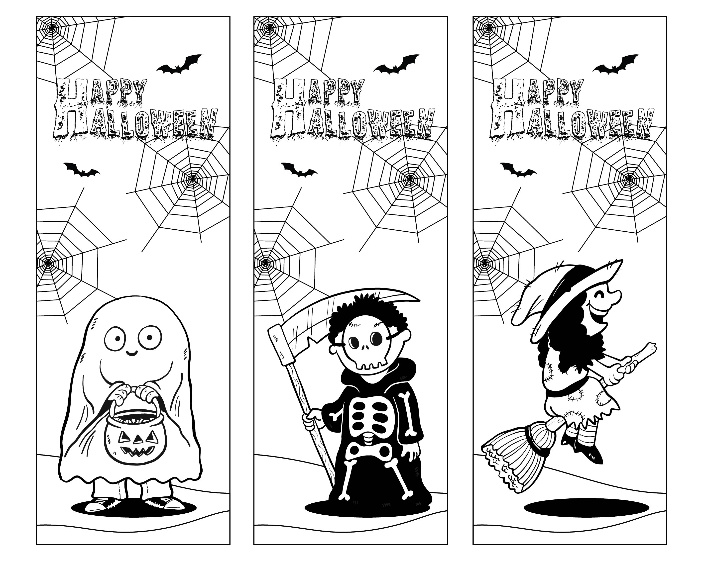 8 Images of Printable Halloween Bookmarks