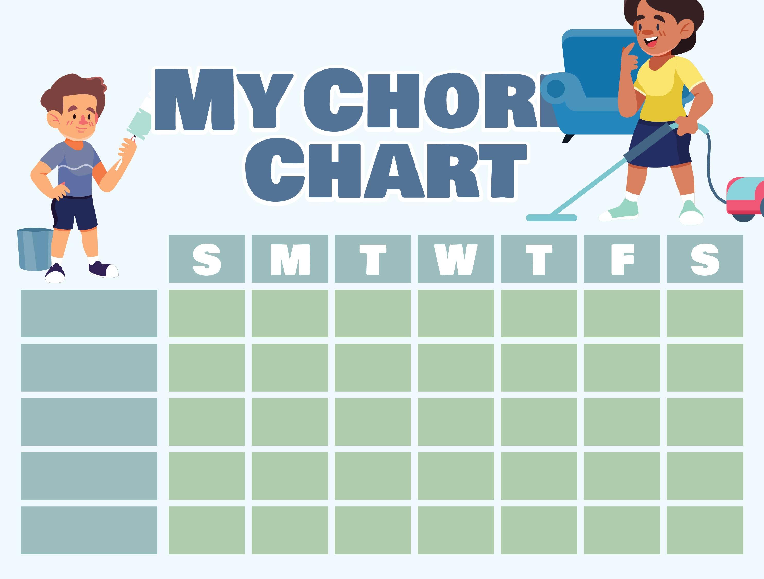 Printable Kids Chore Chart Template