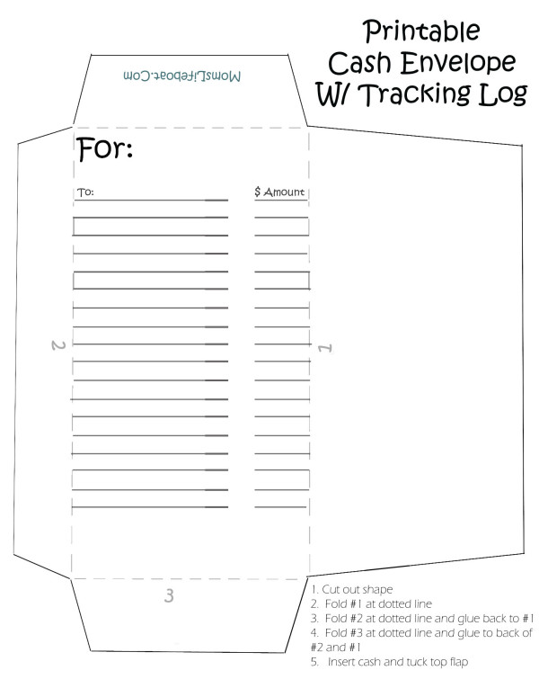 4 Images of Cash Envelope Templates Printable