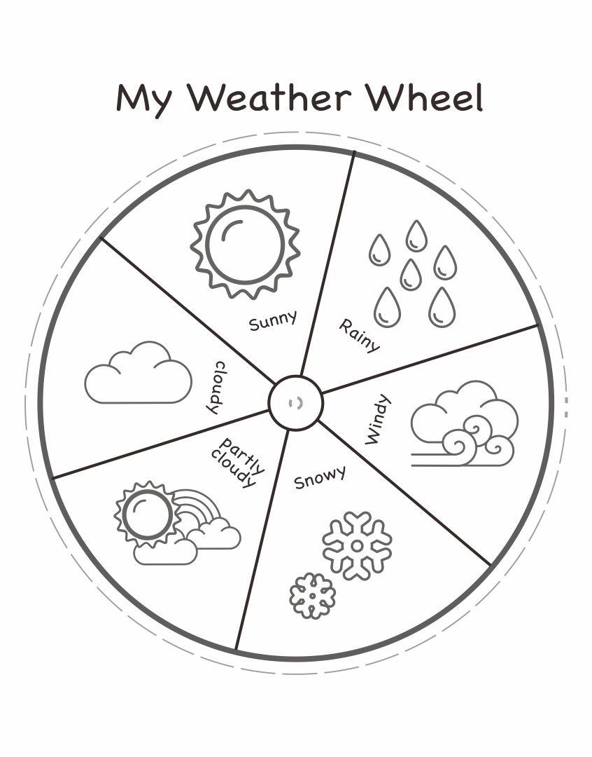 Printable Preschool Weather Wheel