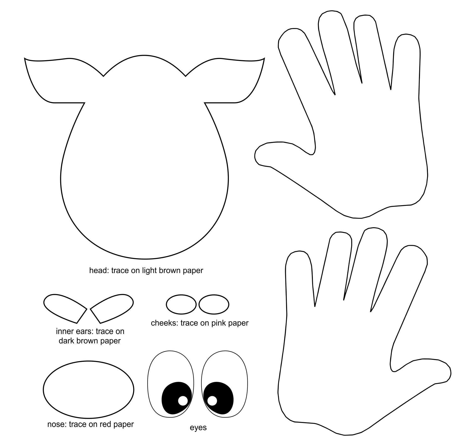 Reindeer Christmas Fingerprint Craft