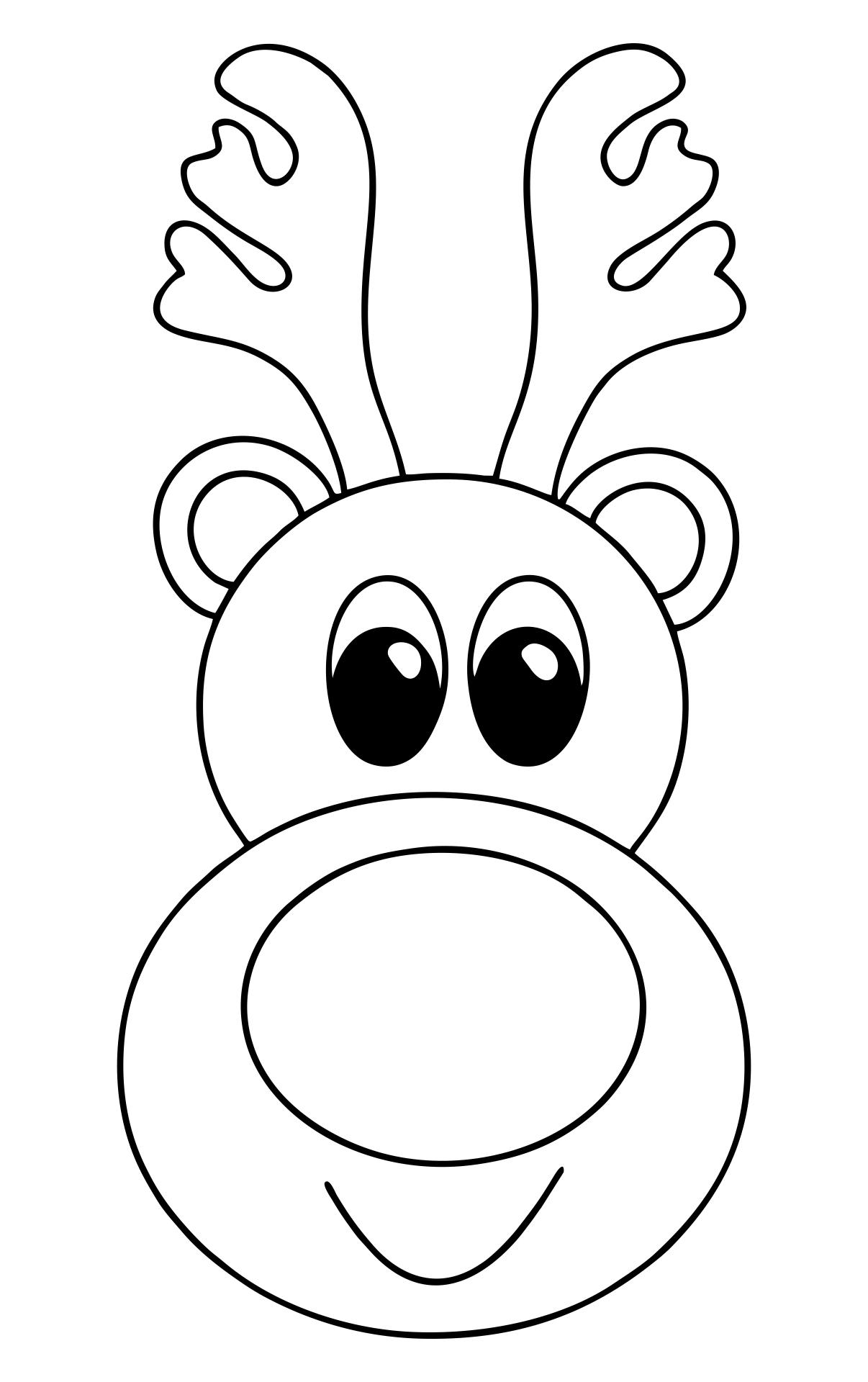 Reindeer Face Template Printable