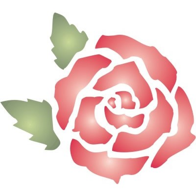 5 Images of Free Printable Rose Stencil