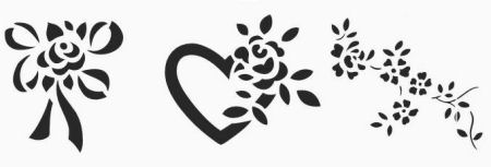 Rose Stencil Patterns Free