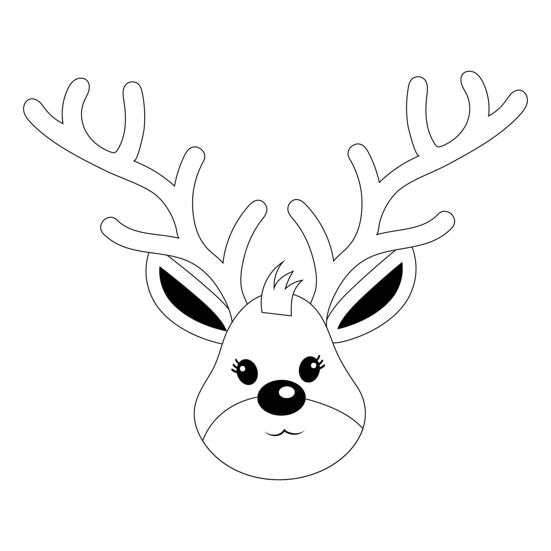 Rudolph Reindeer Template