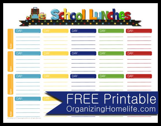 7 Images of School Menu Template Printable