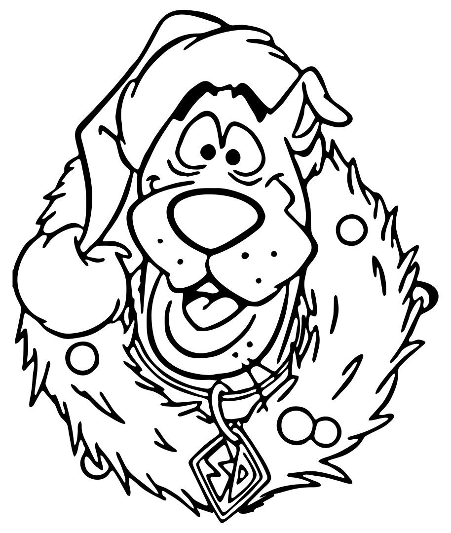 Scooby Doo Christmas Coloring Pages Free