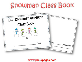 Snowman Counting Book Printable