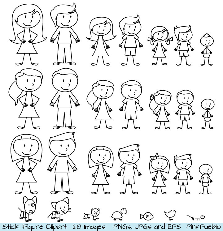 9 Images of Free Printable Stick People Clip Art