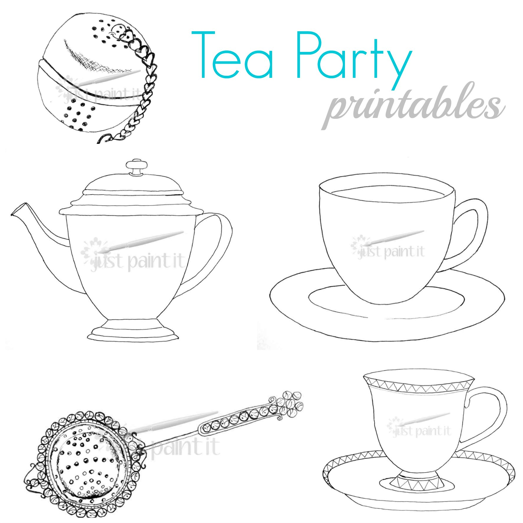 printable tea cup coloring pages - photo#36