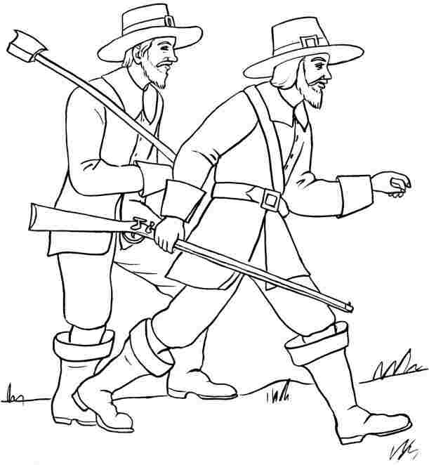 5 best images of pilgrim coloring pages printable for Boy pilgrim coloring page
