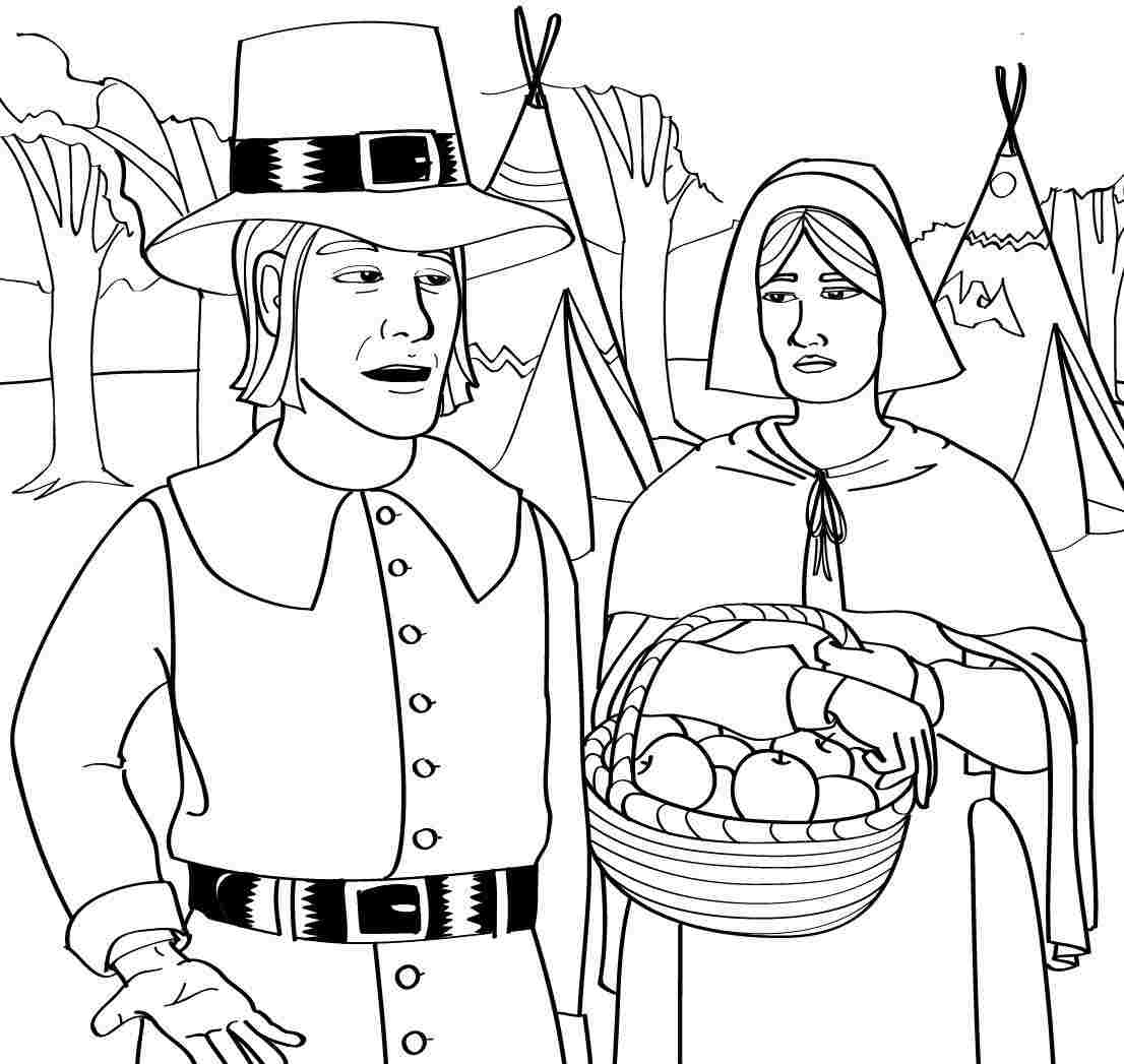 5 Images of Pilgrim Coloring Pages Printable