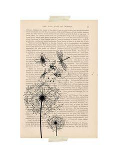 Vintage Dandelion Print
