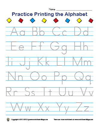 Number Names Worksheets printable alphabet handwriting worksheets : Alphabet Practice Worksheet - Pichaglobal