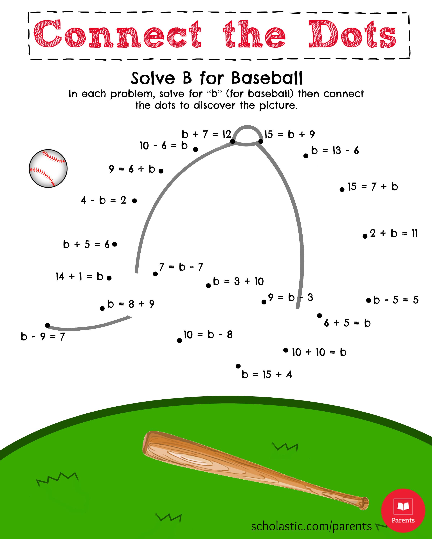 5 Images of Baseball Math Printable Free