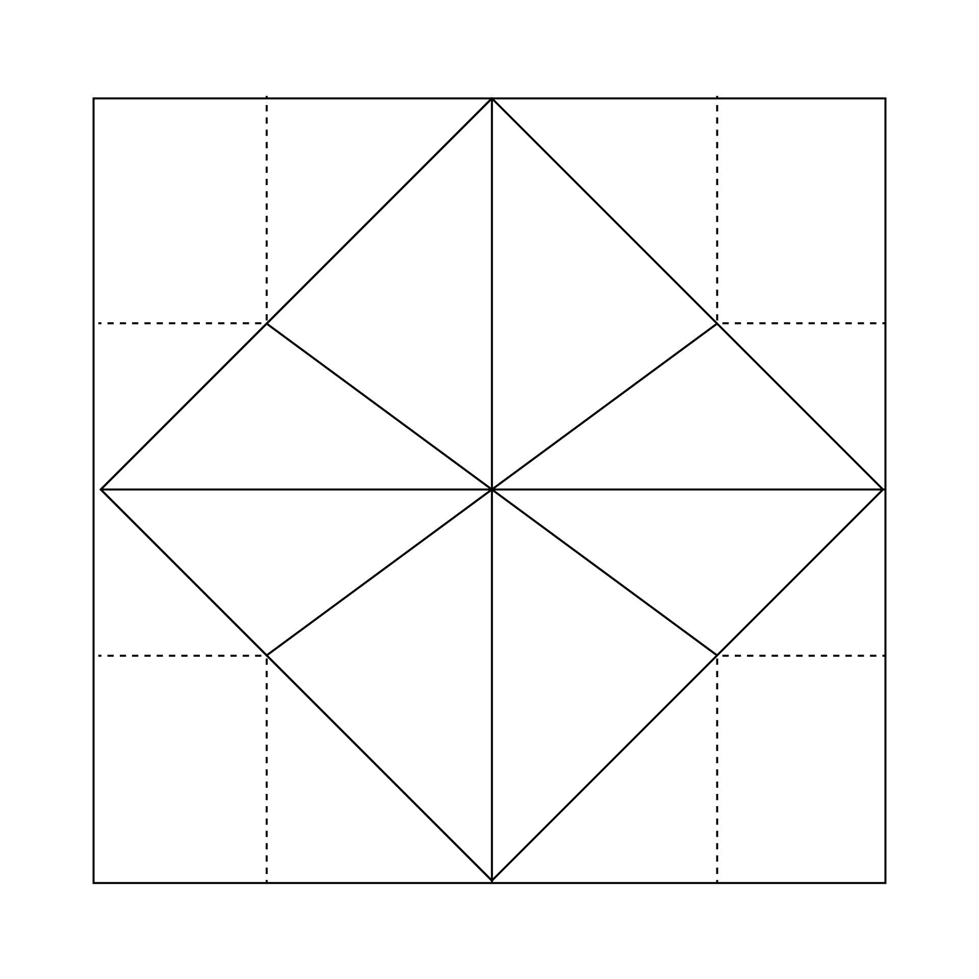 Blank Origami Fortune Teller Template