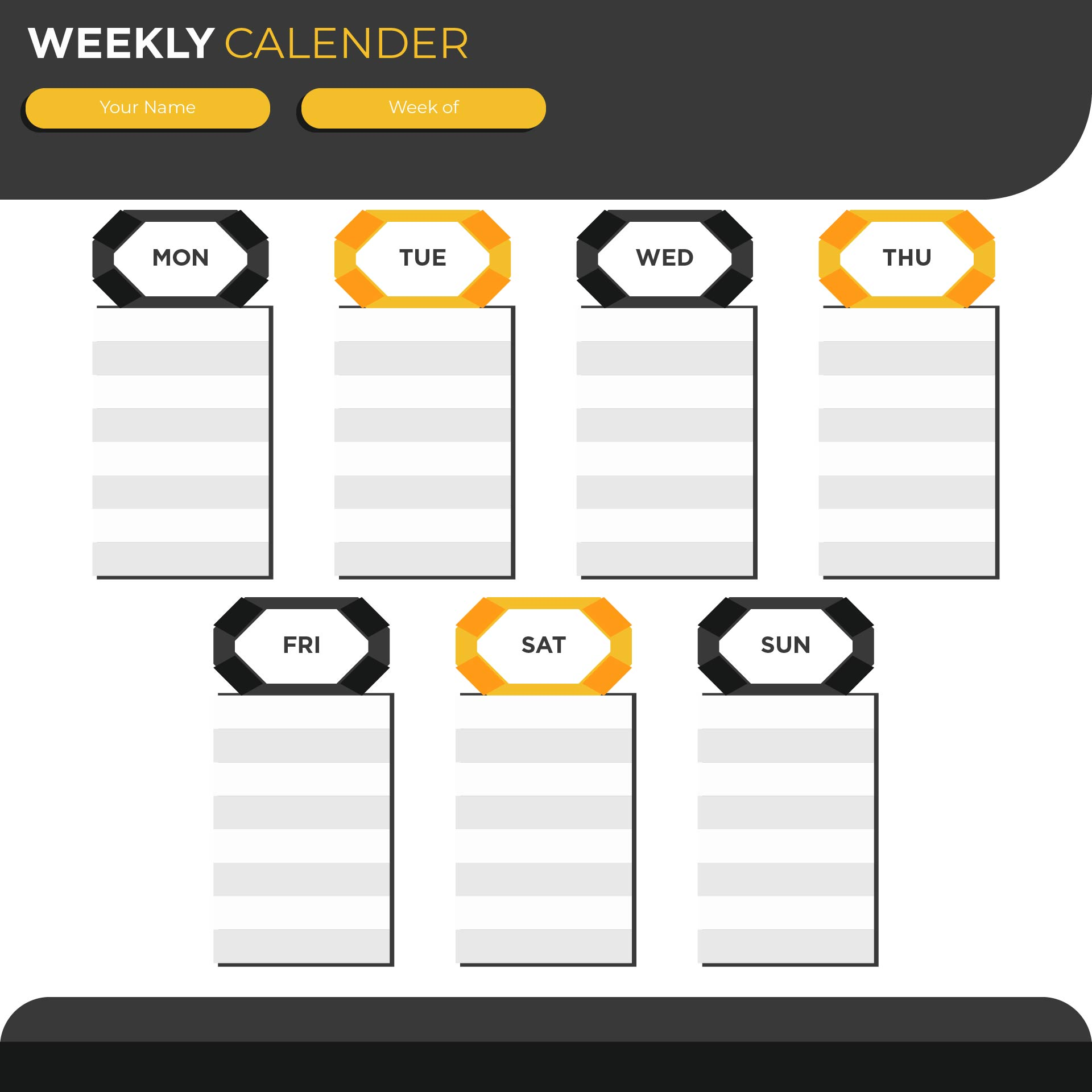 Weekly Calendar With Time Slots - Printable Calendar with Time Slots ...