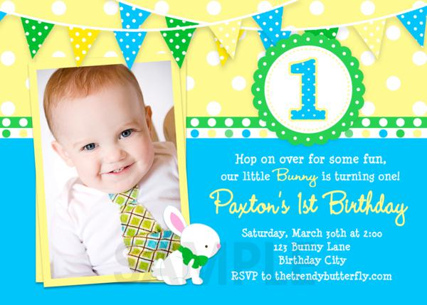 Boy 1st Birthday Invitations Templates