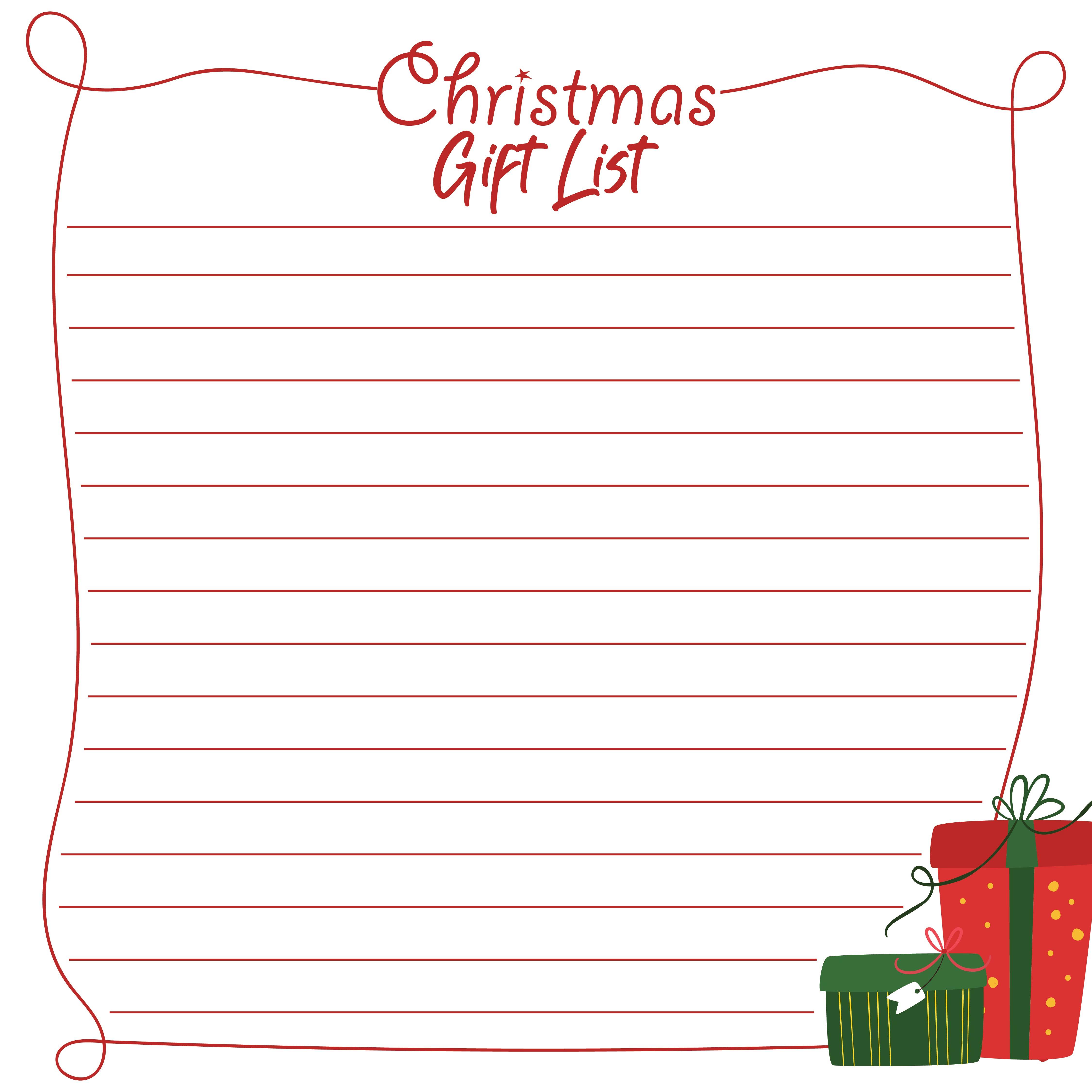 5 Images of Printable Christmas Wish List Form