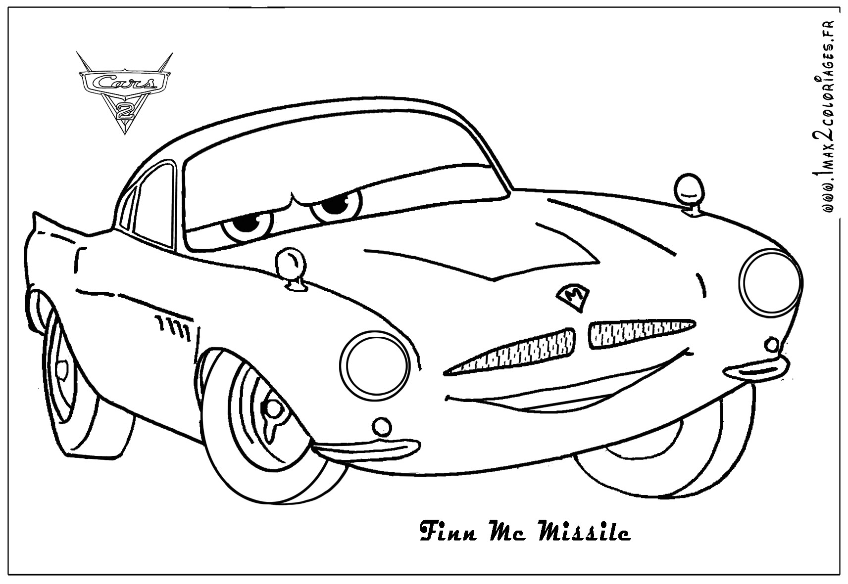 4 Images of Cars 2 Printable Coloring Pages