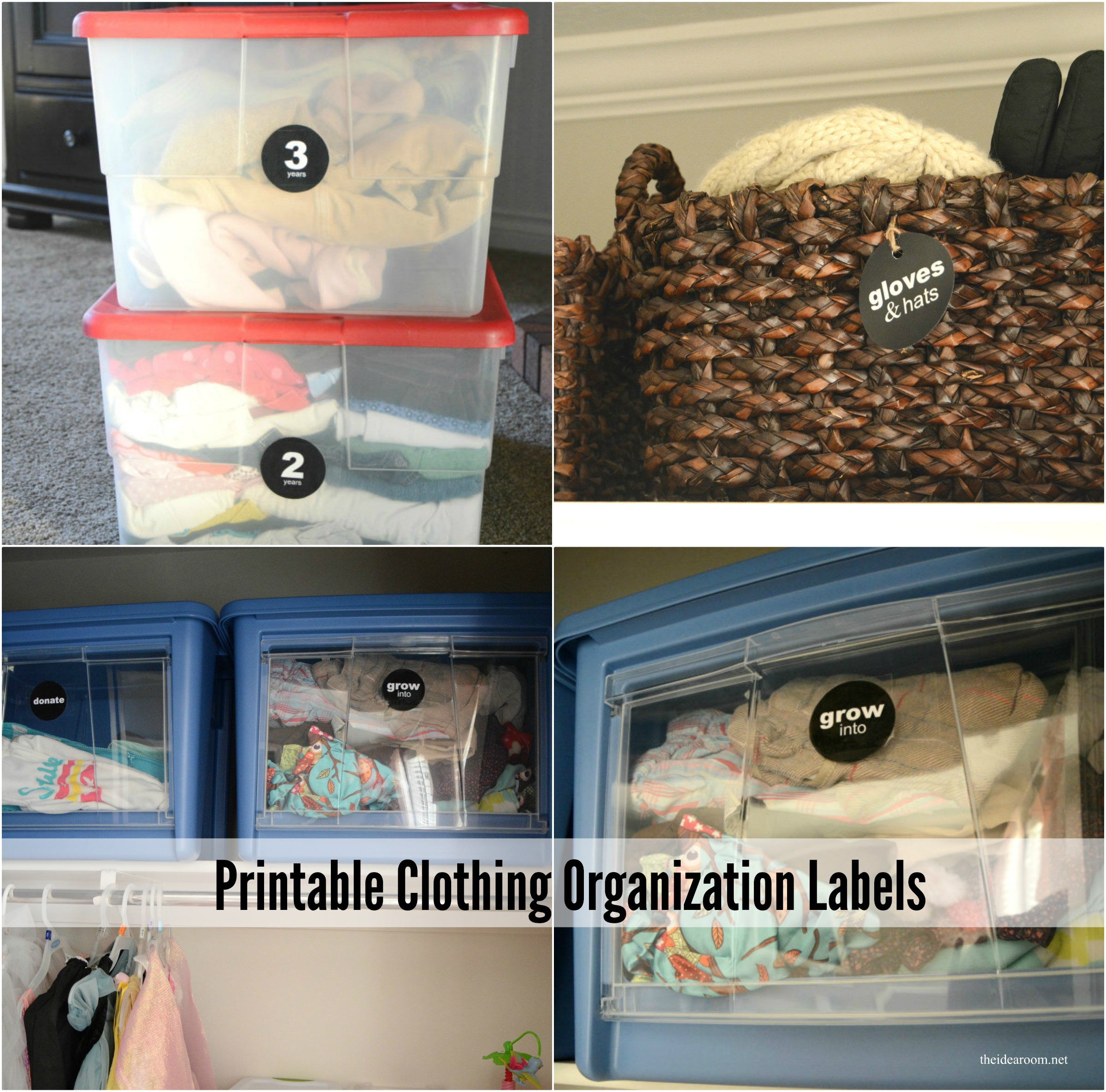 Clothes Organization Labels Printable
