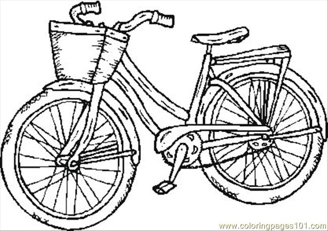 5 Images of Bicycle Coloring Printables