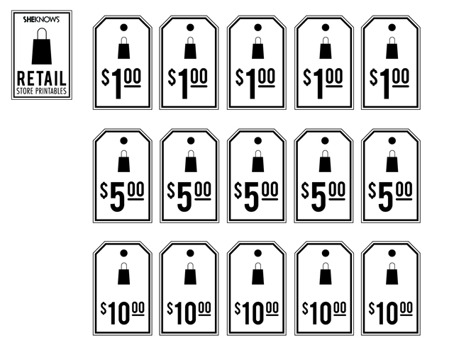 8 Images of Price Tags Printable