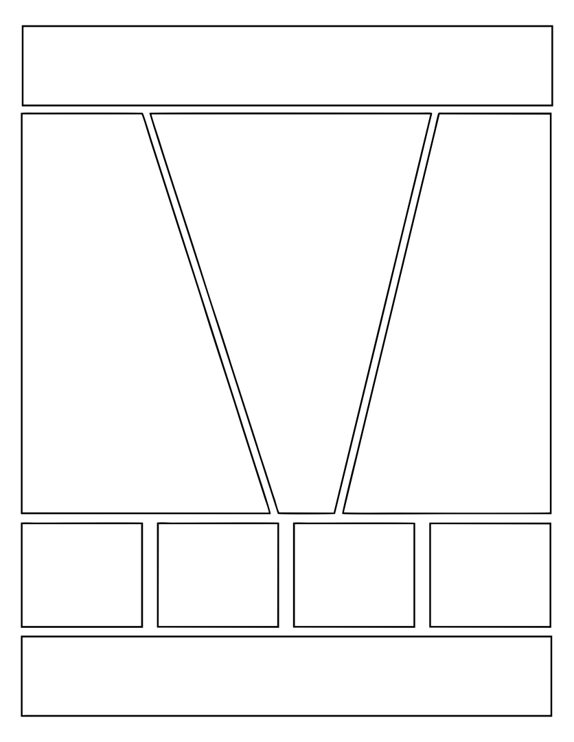 7 best images of printable comic book layout template for Comic strip template maker