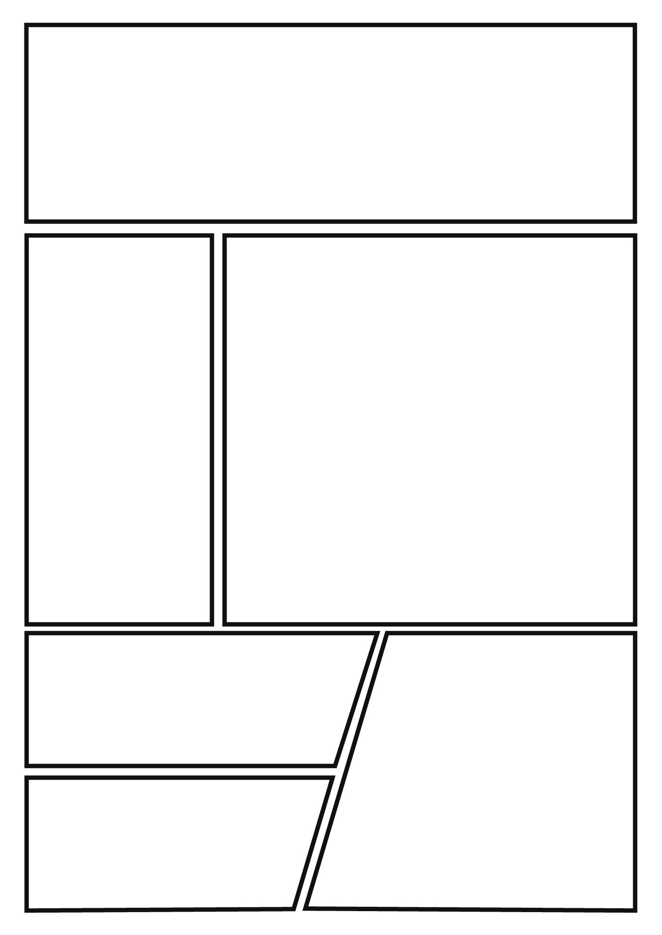 Printable Comic Book Layout Template