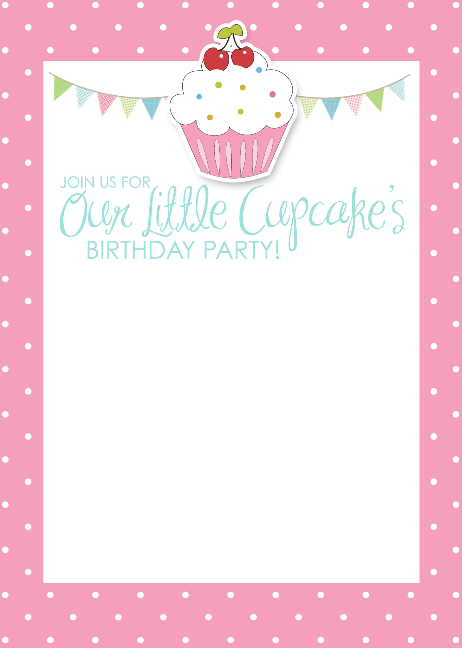 5 Images of Cupcake Birthday Party Invitations Printable Free