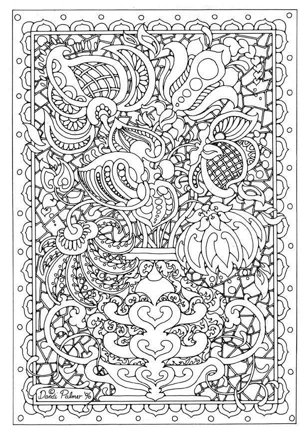 Difficult Adult Coloring Pages Printable