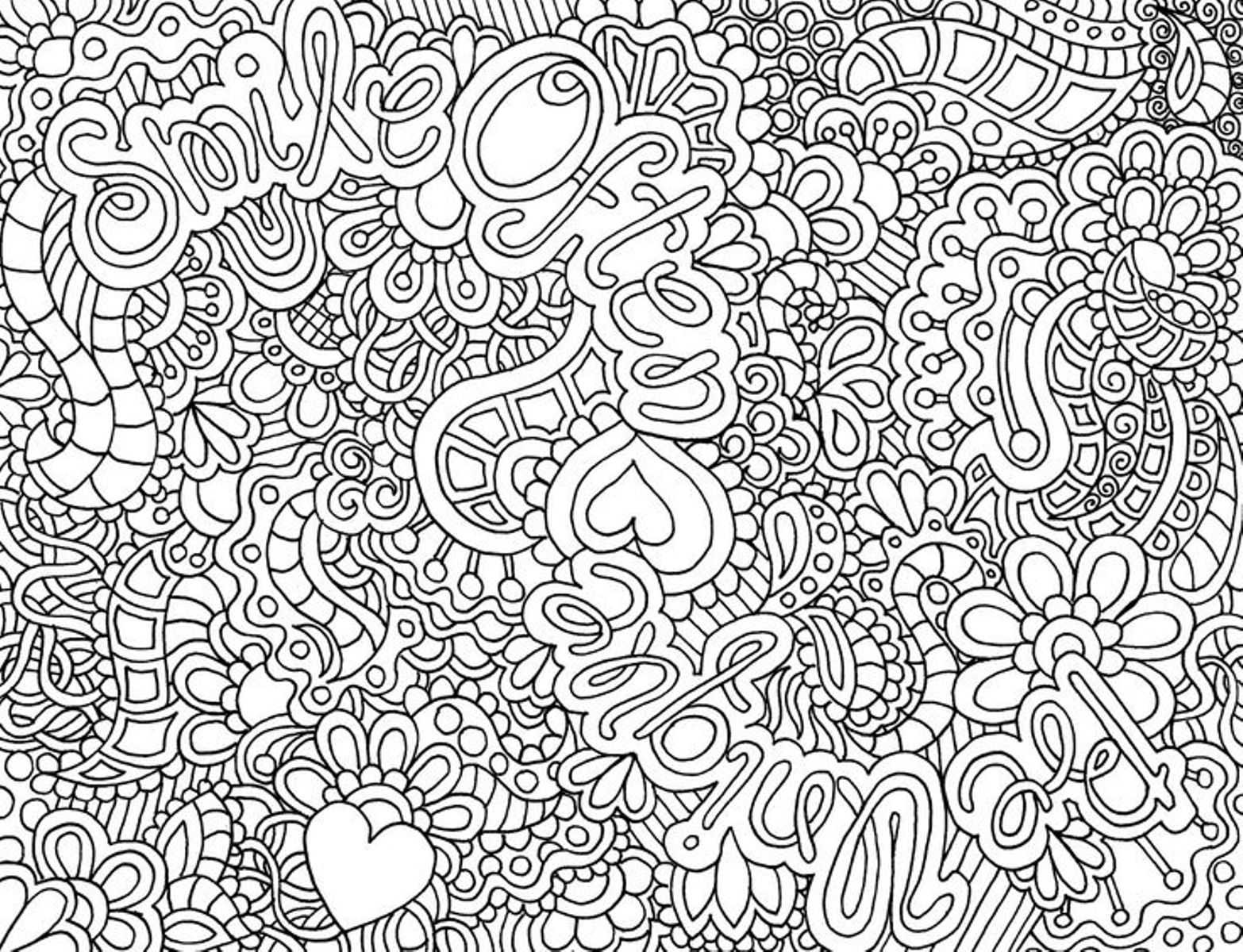 Difficult Adult Coloring Pages