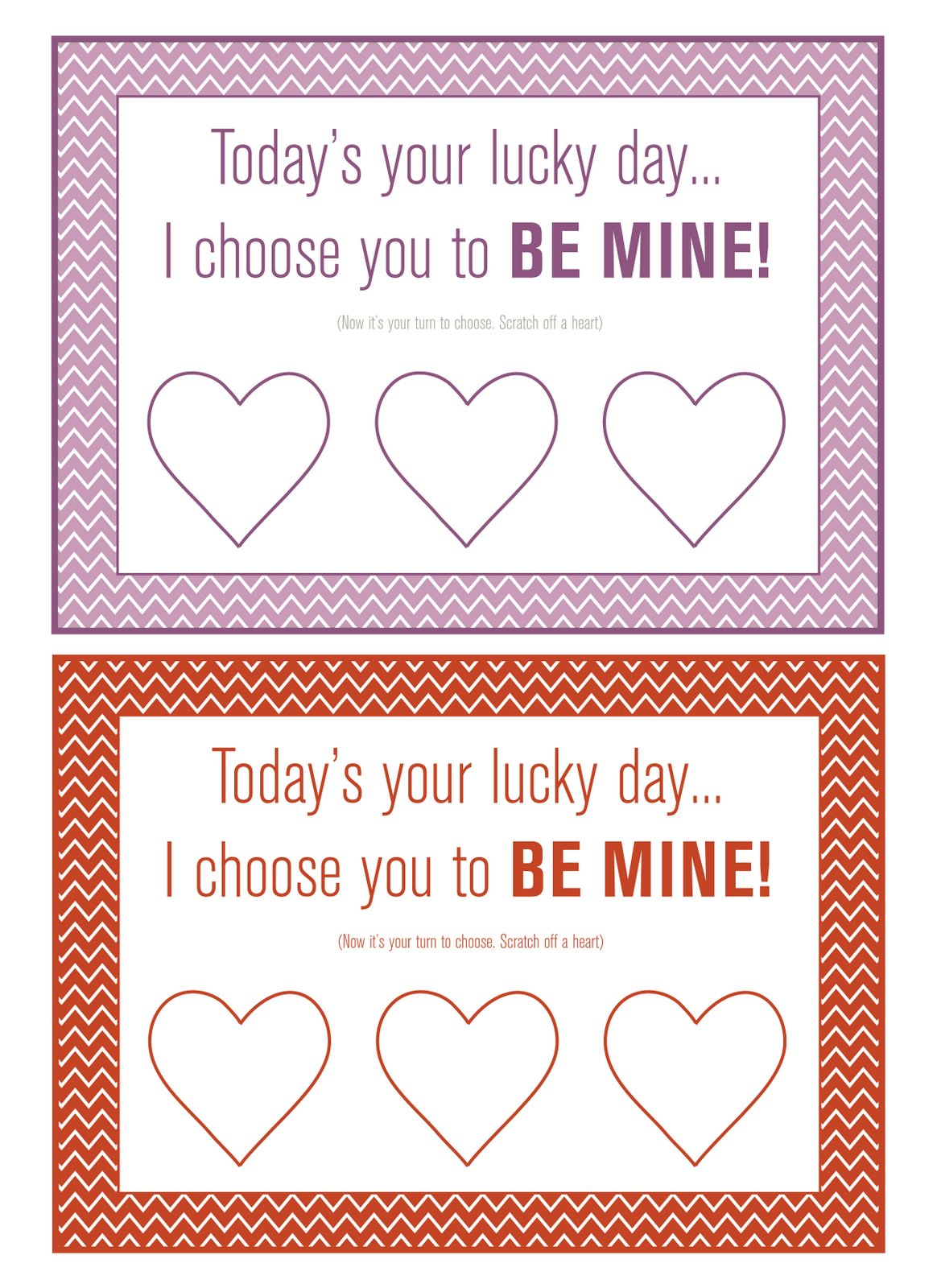 5 Images of Valentine Buffet Card Printables