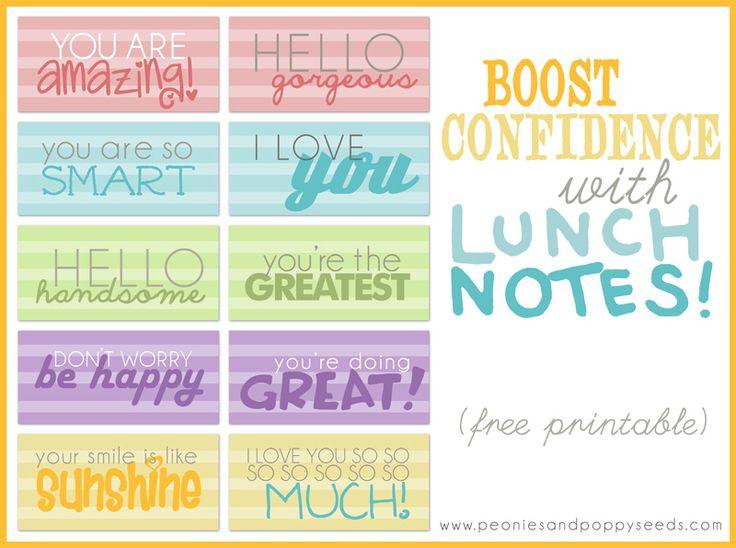 Encouragement School Lunch Notes