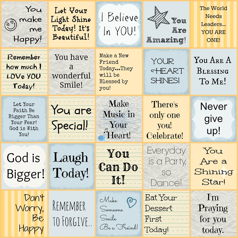 6 Images of Printable Encouragement Notes
